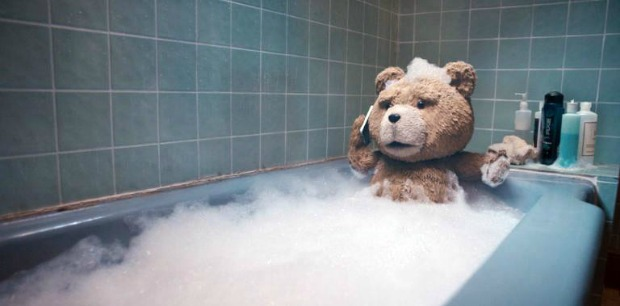 ted.bath  Garfields Eyes Look Like A Pair Of Womans Breasts, Watch Red Band Featurette TED